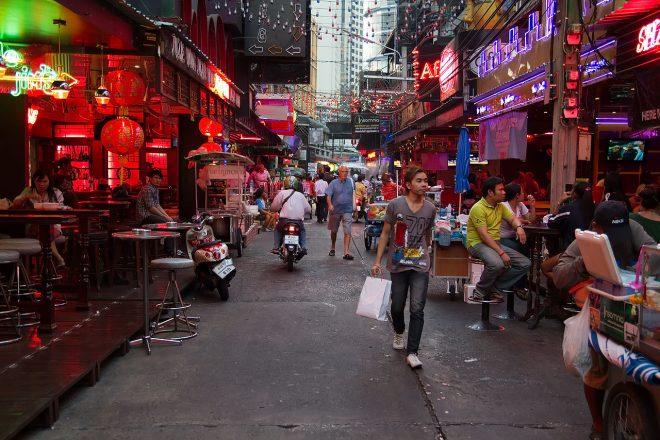 Квартал красных фонарей в Бангкоке