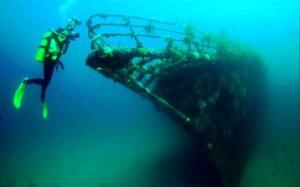 Затонувший корабль Черный Принц