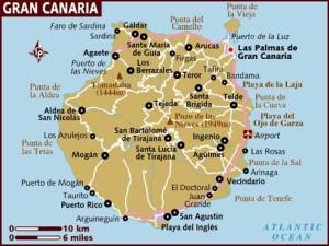 Остров Гран Канария карта
