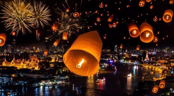 китайские фонари в Новый Год