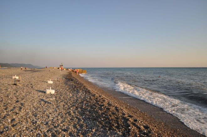 Один из городских пляжей
